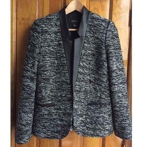 Club Monaco black tweed blazer